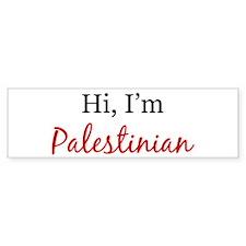 Hi, I am Palestinian Bumper Bumper Sticker