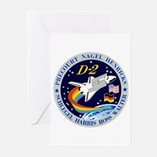 STS-55 Columbia OV 102 Greeting Cards (Pk of 10)