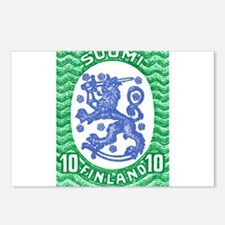 1917 Finland Lion Coat of Arms Postage Stamp Postc