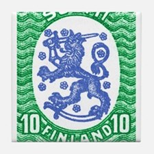 1917 Finland Lion Coat of Arms Postage Stamp Tile