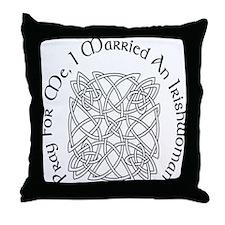 I Married An Irishwoman Throw Pillow
