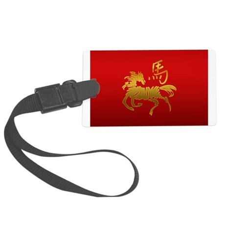 Year Of The Horse Large Luggage Tag