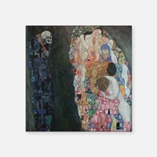 "Death and Life by Klimt Square Sticker 3"" x 3"""