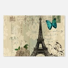 paris eiffel tower butter Postcards (Package of 8)