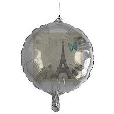 paris eiffel tower butterfly damask Balloon
