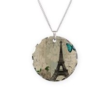 paris eiffel tower butterfly Necklace