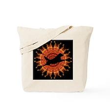 Sunfire black Jumping Sun Tote Bag