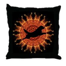 Sunfire black Jumping Sun Throw Pillow