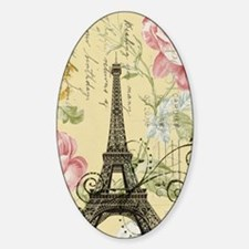 floral paris eiffel tower roses Decal