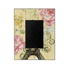 floral paris eiffel tower roses Picture Frame