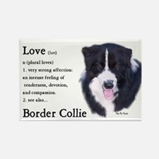 Border Collie Love Is Rectangle Magnet (10 pack)