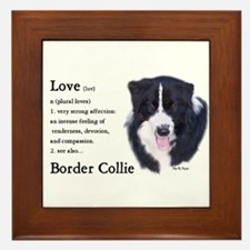 Border Collie Love Is Framed Tile