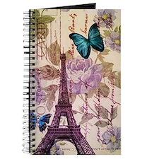 floral paris eiffel tower roses Journal