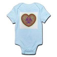 Biohazard Heart Infant Bodysuit