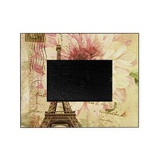 floral paris eiffel tower postmark Picture Frame