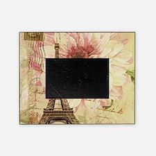 floral paris eiffel tower postmark Picture Frame
