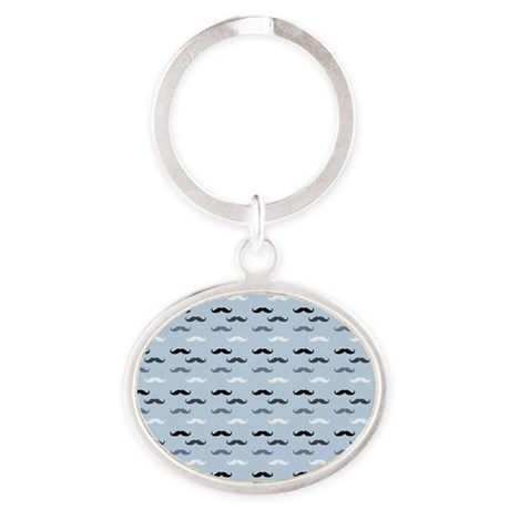 Cool Blue Mustaches Keychains