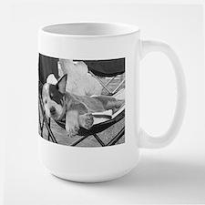 Aww - Sleeping Blue Cattle Dog Puppy Large Mug