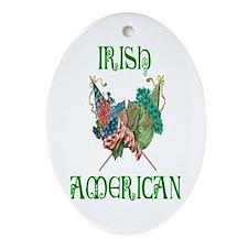 Irish American Unity Oval Ornament
