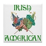 Irish American Unity Tile Coaster
