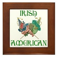 Irish American Unity Framed Tile
