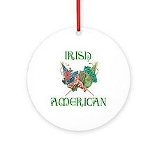 Irish American Unity Ornament (Round)