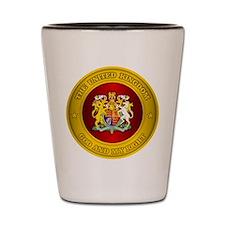 United Kingdom Medallion Shot Glass
