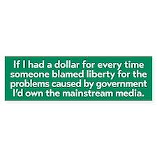 Blaming Liberty Bumper Bumper Sticker