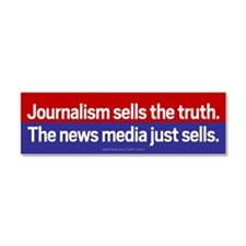 Journalism Car Magnet 10 x 3
