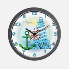 Sea Collage Wall Clock
