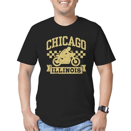 Chicago Motorcycle Men's Fitted T-Shirt (dark)