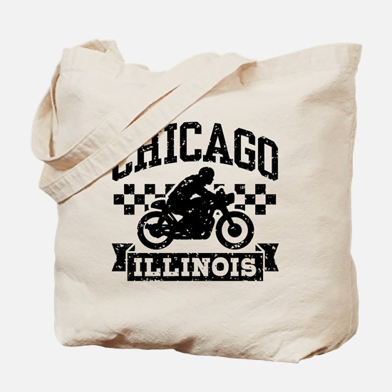 Chicago Motorcycle Tote Bag