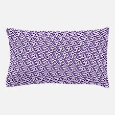 Yog Ohm Symbol Purple Pillow Case