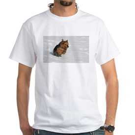 australian terrier in snow T-Shirt