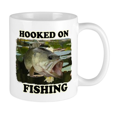 Hooked on fishing mugs by fisheadtackle for Hooked on fishing