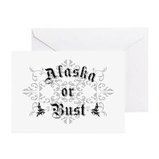 Alaska or Bust Greeting Cards (Pk of 10)