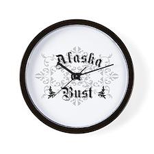 Alaska or Bust Wall Clock