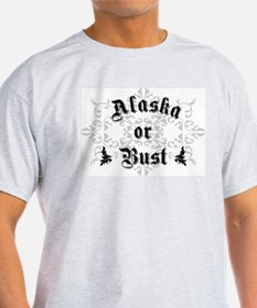 Alaska or Bust Ash Grey T-Shirt