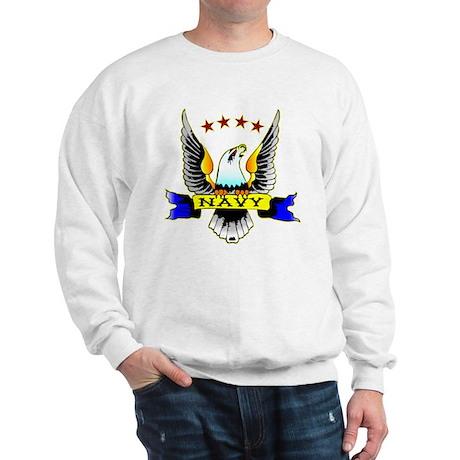 Navy Old School Eagle Sweatshirt