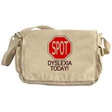 STOP or SPOT Dyslexia Today! Messenger Bag