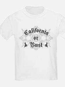 California or Bust Kids T-Shirt
