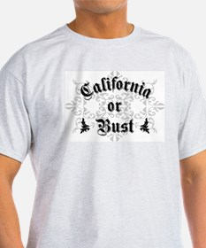 California or Bust Ash Grey T-Shirt