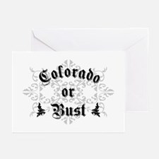 Colorado or Bust Greeting Cards (Pk of 10)