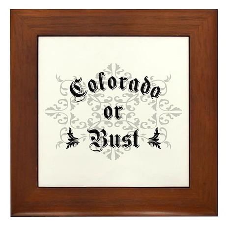 Colorado or Bust Framed Tile
