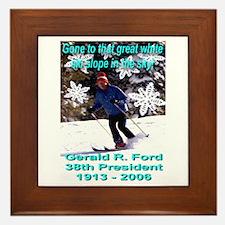 In Memorium President Gerald Framed Tile