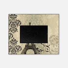 vintage paris eiffel tower damask Picture Frame