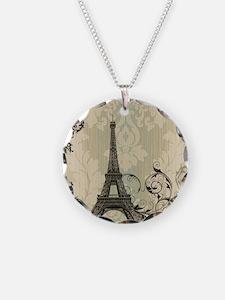 vintage paris eiffel tower d Necklace