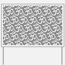 Yog Ohm Symbol Grey Yard Sign