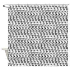Yog Ohm Symbol Grey Shower Curtain