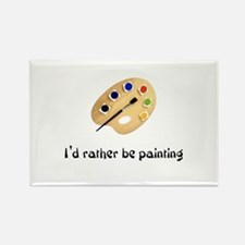 I'd rather be painting Rectangle Magnet (10 pack)